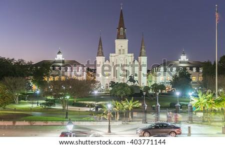 Jackson Square, New Orleans - Louisiana. - stock photo