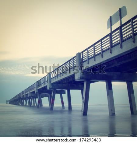 Jacksonville beach pier stock images royalty free images for Jacksonville fishing pier