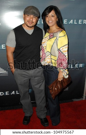 Jacob Vargas and wife Sylvia at the Los Angeles Premiere of 'The Sleep Dealer'. The Montalban, Los Angeles, CA. 04-15-09