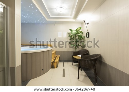 Jacuzzi bath in spa wellness center