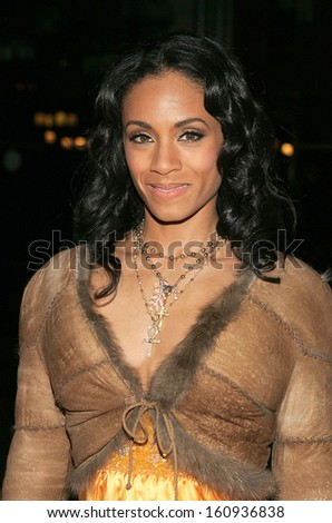 Jada Pinkett Smith at HITCH premiere hosted by Sony and Columbia Pictures, Ellis Island Immigration Museum, New York, NY, February 03, 2005 - stock photo