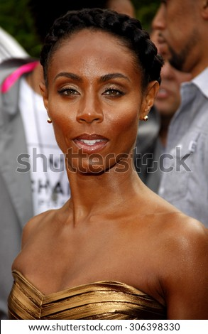 Jada Pinkett Smith at the Los Angeles premiere of 'The Karate Kid' held at the Mann Village Theater in Westwood, USA on June 7, 2010. - stock photo