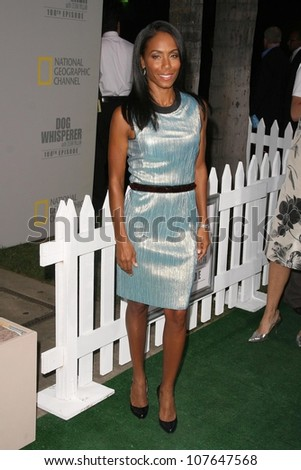Jada Pinkett Smith  at the party to celebrate the 100th Episode of 'Dog Whisperer'. Boulevard 3, Hollywood, CA. 09-17-08 - stock photo