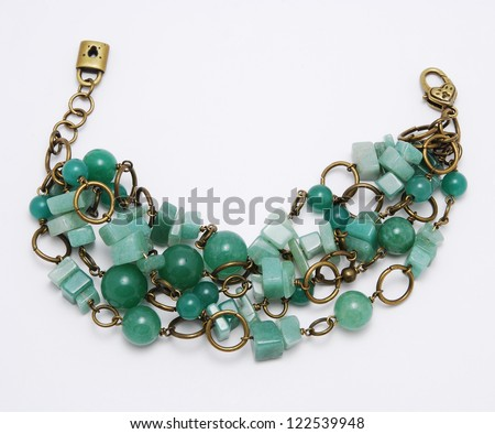 Jade bracelet - stock photo