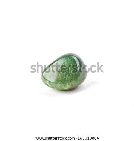 Jade on white background  - stock photo