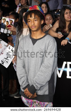"Jaden Smith at the Los Angeles premiere of ""Divergent"" held at the Regency Bruin Theatre in Westwood on March 18, 2014 in Los Angeles, California.  - stock photo"