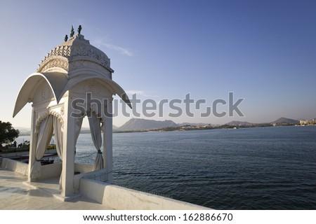 Jag Mandir Palace Lake Pichola  - stock photo
