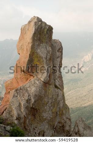 jaged rocks next to Juniper Canyon - stock photo