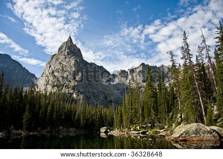 Jagged Mountain with blue skies