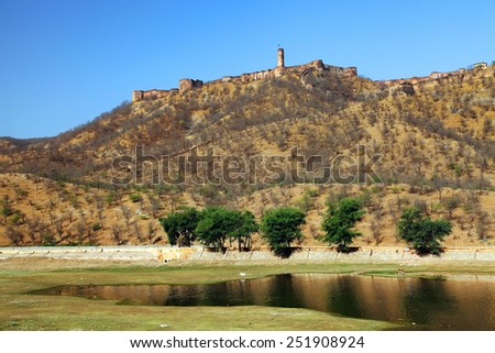 Jaigarh Fort in Jaipur, Rajasthan, India - stock photo