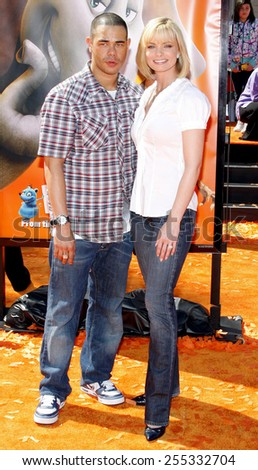 "Jaime Pressly and DJ Eric Cubiche attend the World Premiere of ""Horton Hears a Who!"" held at the Westwood Village Theater in Westwood, California, United States on March 8, 2008."