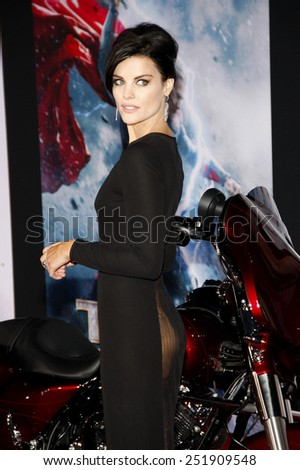 "Jaimie Alexander at the Los Angeles premiere of ""Thor: The Dark World"" held at the El Captian Theatre in Los Angeles on November 4, 2013 in Los Angeles, California."