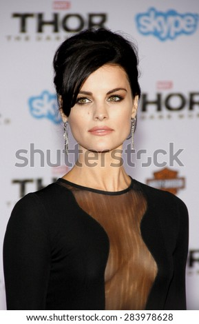 """Jaimie Alexander at the Los Angeles premiere of """"Thor: The Dark World"""" held at the El Captian Theatre in Los Angeles on November 4, 2013 in Los Angeles, California.  - stock photo"""
