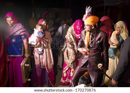 JAISALMER INDIA JAN 24 Rajasthan Groom Stock Photo Royalty Free