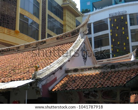 JAKARTA, INDONESIA - March 4, 2018: Candra Naya Building, a Chinese cultural heritage from 18th century, which was owned by Khouw family.