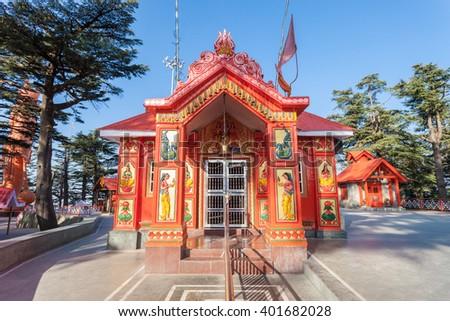 Jakhoo Temple is an ancient temple in Shimla, dedicated to Hindu deity, Hanuman. - stock photo