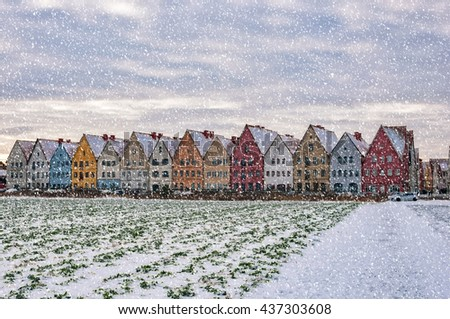 Jakriborg is a new classical housing project built in the municipality of Staffanstorp in the Skane region of southern Sweden. - stock photo