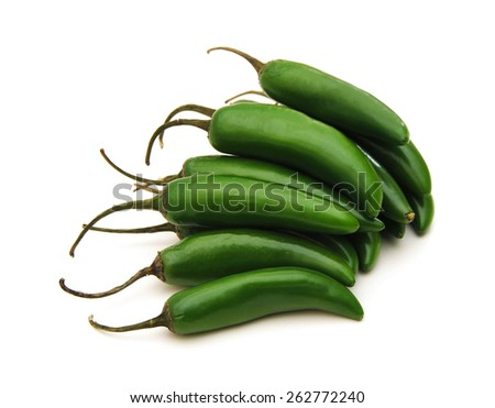 jalapeno of mexican peppers  - stock photo