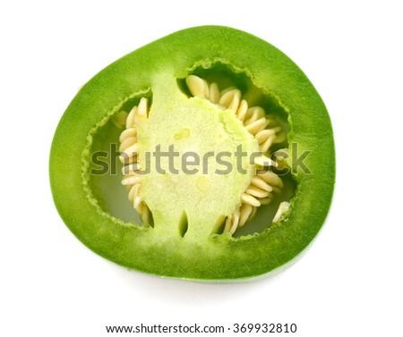 jalapeno slice pepper - stock photo