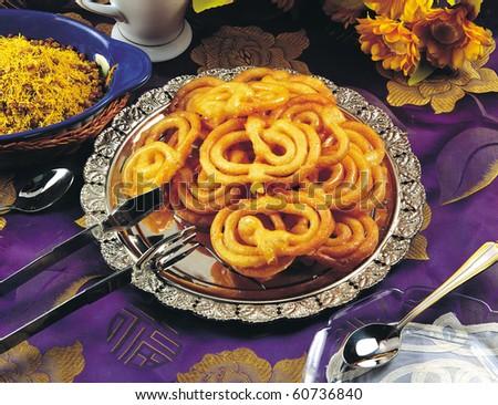 Jalebi Traditional Sweet - stock photo