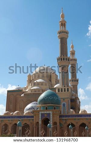 Jalil Khayat Mosque Erbil Iraq. - stock photo