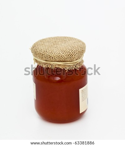 jam flask in white - stock photo