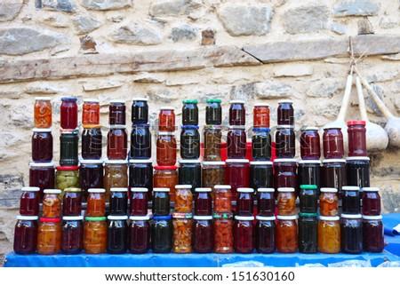 Jam jars  - stock photo