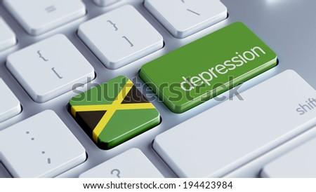 Jamaica High Resolution Depression Concept - stock photo