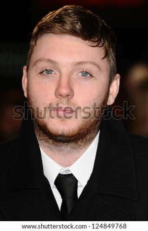 "James Arthur arriving for the ""Django Unchained"" premiere, Empire Leicester Square, London. 10/01/2013 Picture by: Steve Vas - stock photo"