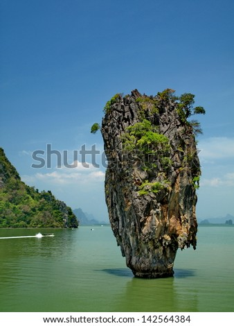 James Bond island : famous island in south of Thailand