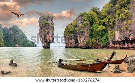 James Bond Island, Phang Nga, Thailand - stock photo