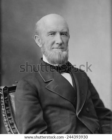 James Buchanan Eads 1820-1887 engineer and builder of the St. Louis Bridge 1867-1874 now named the Eads Bridge. - stock photo