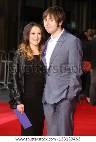 James Buckley Wife Clair Meek Arriving Stock Photo ...