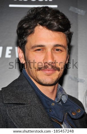 James Franco at SOMEWHERE Premiere, Tribeca Grand Hotel Screening Room, New York, NY December 12, 2010 - stock photo