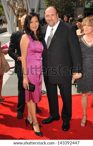 James Gandolfini & wife Deborah Lin at the Creative Arts Emmy Awards at the Nokia Live Theatre, Los Angeles..September 13, 2008  Los Angeles, CA.