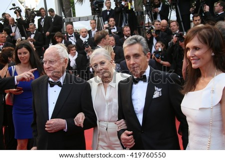 James Ivory, Vanessa Redgrave  attend the 'Money Monster' Premiere during the 69th annual Cannes Film Festival on May 12, 2016 in Cannes, France. - stock photo