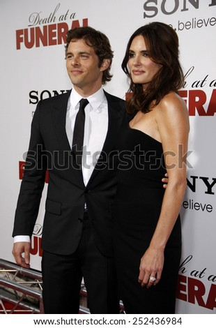 """James Marsden at the World Premiere of """"Death At A Funeral"""" held at the Arclight Cinerama Dome in Hollywood, California, United States on April 12, 2010.  - stock photo"""