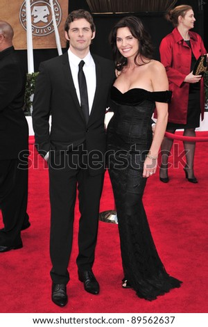James Marsden & wife Lisa Linde at the 14th Annual Screen Actors Guild Awards at the Shrine Auditorium, Los Angeles, CA. January 27, 2008  Los Angeles, CA. Picture: Paul Smith / Featureflash