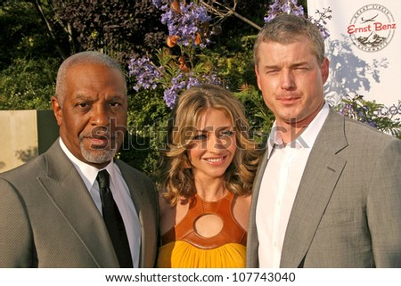 James Pickens Jr. with Rebecca Gayheart and Eric Dane  at the 7th Annual Chrysalis Butterfly Ball. Private Residence, Los Angeles, CA. 05-31-08
