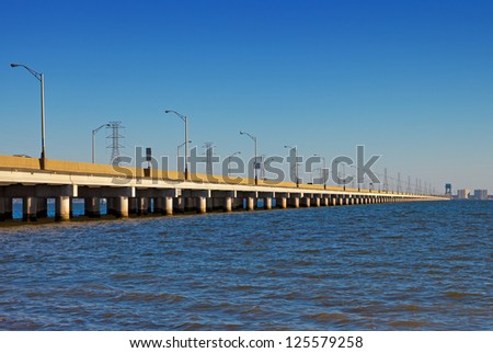 James River Bridge - stock photo