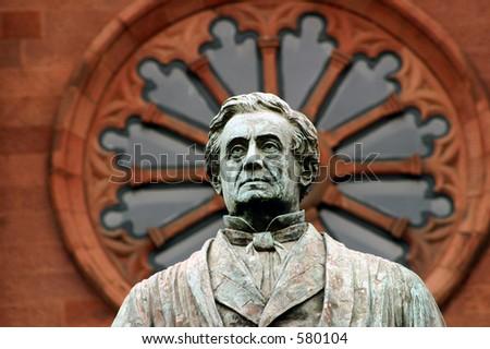James Smithsonian Statue - stock photo