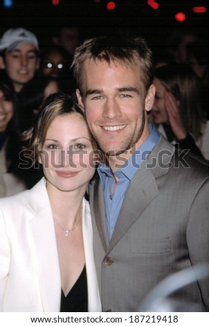 James Van Der Beek and Heather McComb at 100th episode of Dawson's Creek at Museum of Television & Radio, NY 2/19/2002