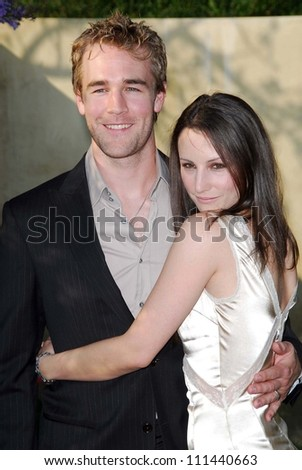 James Van Der Beek and Heather McComb at The Sixth Annual Chrysalis Butterfly Ball. The Home of Susan Harris and Hayward Kaiser, Mandeville Canyon, CA. 06-02-07