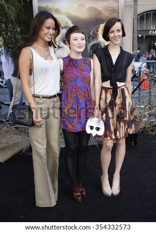 "Jamie Chung, Emily Browning and Jena Malone at the LA Premiere of ""Legends of the Guardians: The Owls of Ga'Hoole"" held at the Grauman's Chinese Theater in Hollywood, USA on September 19, 2010."