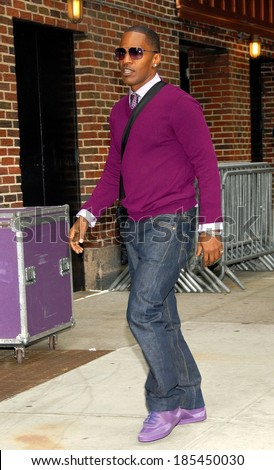 Jamie Foxx at talk show appearance for The Late Show with David Letterman, Ed Sullivan Theater, Los Angeles, CA April 23, 2009 - stock photo