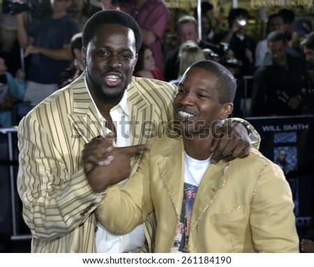 """Jamie Foxx at the Los Angeles premiere of """"I, Robot"""" held at the Mann Villa Theater in Westwood, USA on July 7, 2004. - stock photo"""