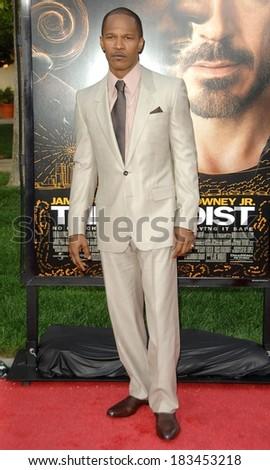 Jamie Foxx at THE SOLOIST Premiere, Paramount Theatre, Los Angeles, CA April 20, 2009  - stock photo