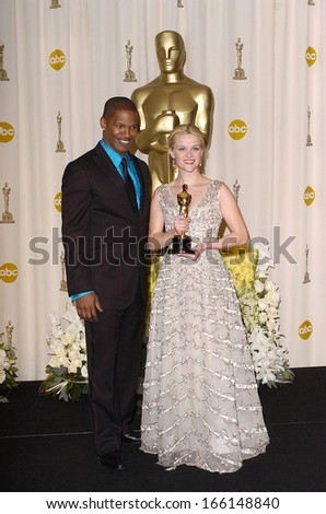 Jamie Foxx, Reese Witherspoon in the press room for OSCARS 78th Annual Academy Awards, The Kodak Theater, Los Angeles, CA, March 05, 2006