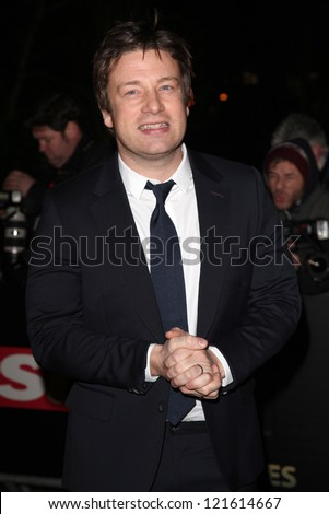 Jamie Oliver arriving for The Sun Military Awards, at The Imperial War Museum, London. 06/12/2012 Picture by: Alexandra Glen