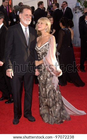 Jan 16, 2005; Beverly Hills, CA: Director TAYLOR HACKFORD & wife actress HELEN MIRREN at the 62nd Annual Golden Globe Awards at the Beverly Hilton Hotel.